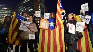 Brüksel'de Katalonya eylemi: 'AB neden sessiz?'