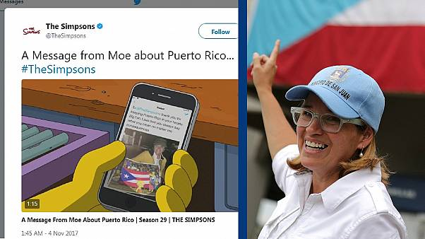 TV show The Simpson's has a message to Puerto Rican Mayor