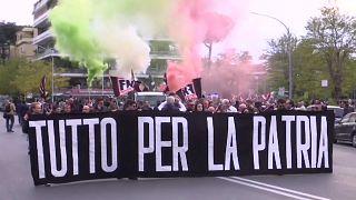 Марш неофашистов в Риме