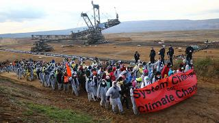 COP23 : manifestation dans une mine de charbon