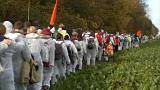 Activists enter the grounds of a brown coal mine near Bonn