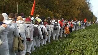 Proteste im Vorfeld zu COP23 in Bonn