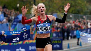 New York'ta yoğun tedbirler altında maraton düzenlendi