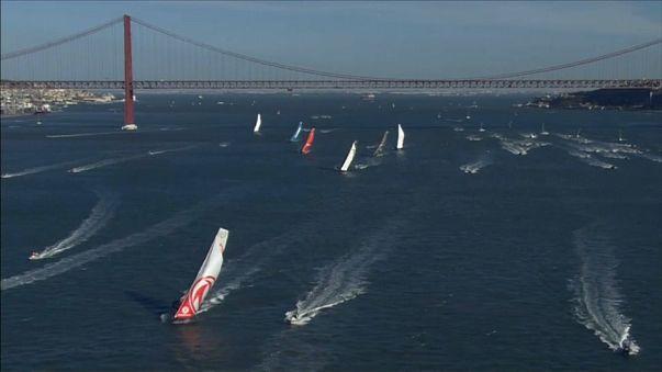 Volvo Ocean Race diz adeus a Lisboa