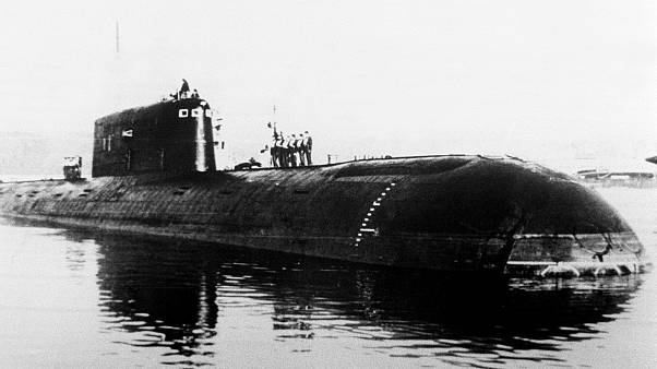 Image: An undated photo of the nuclear-powered submarine Komsomolets, which