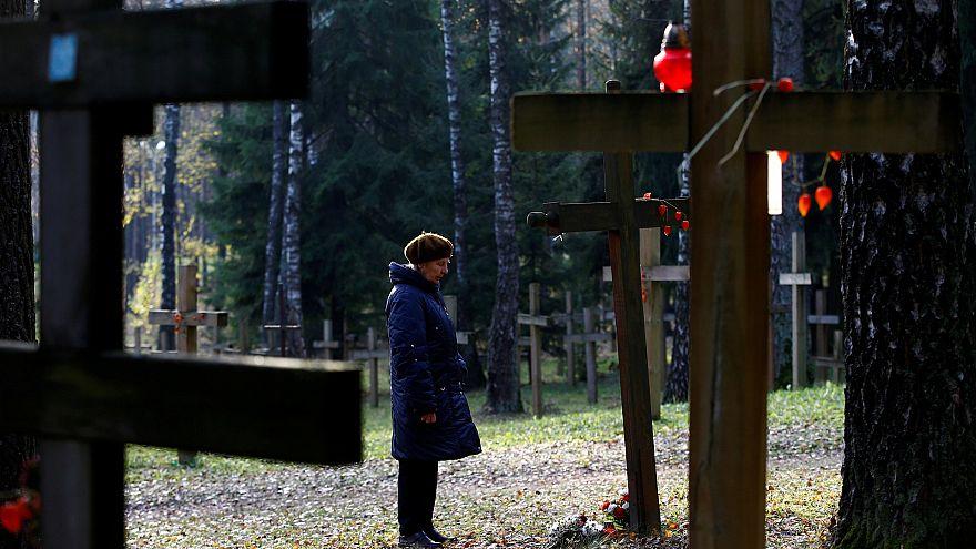 Felvonulás a Sztálin-éra fehérorosz áldozataiért
