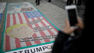 Rallies held in South Korea ahead of U.S President Donald Trump's visit
