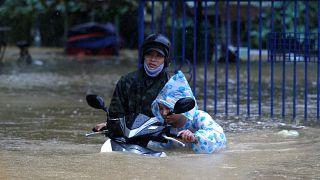 Vietnam's Hoi An floods following powerful typhoon