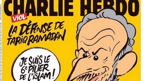 """تهديدات جديدة تصل """"شارلي إيبدو"""" بسبب سخريتها من المفكر الاسلامي طارق رمضان"""