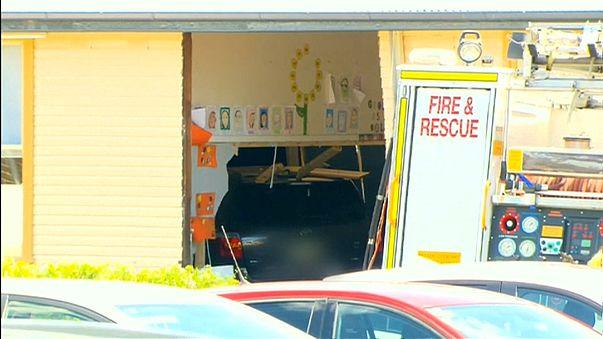 Car crashes into Sydney classroom, killing two children