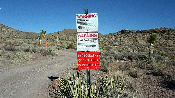 Image: Area 51 US Military Base Entrance Warning Sign