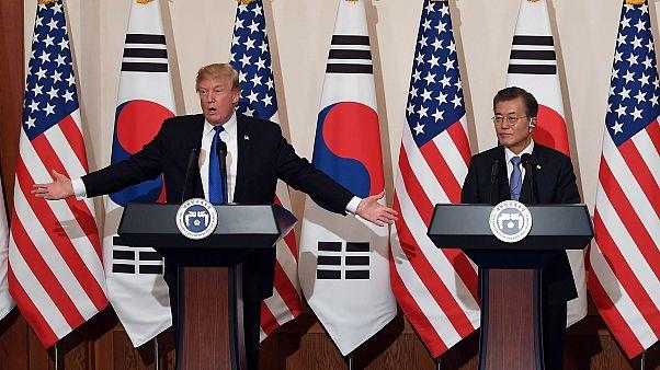 Donald Trump refreia discurso bélico em Seul
