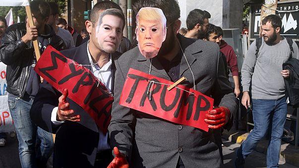 """Estudantes gregos nas ruas em protesto contra o """"desinvestimento na educação"""""""