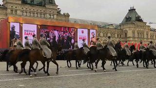 Moscow parade on centenary of revolution