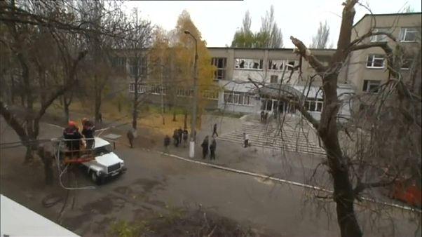 Донецк после артиллерийского обстрела