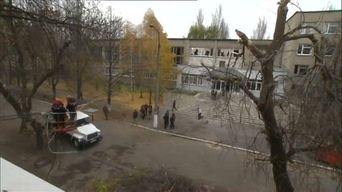 Bombardeo de las fuerzas ucranianas en Donetsk