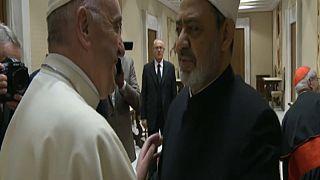 Papa Francesco riceve l'Imam Ahmed al Tayyeb
