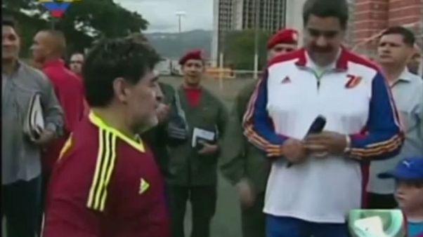 Maradona Nicolas Maduro'yu ziyaret etti