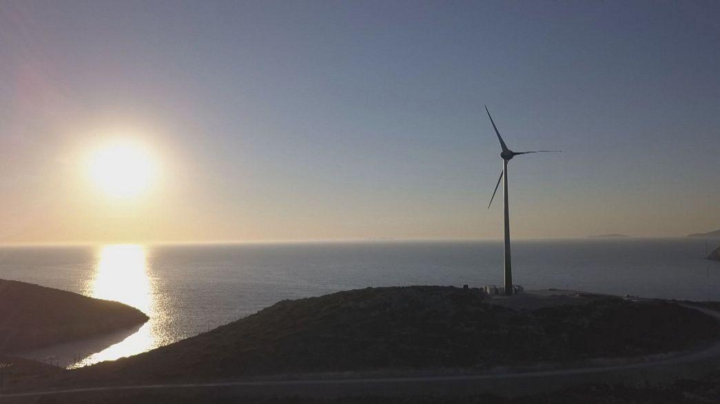 A ilha grega que quer tornar-se autossuficiente em termos energéticos