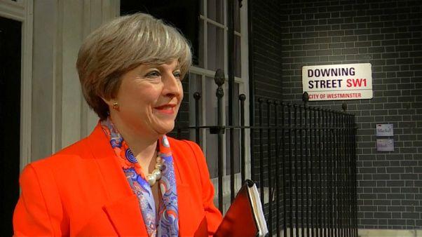 Theresa May als Wachsfigur