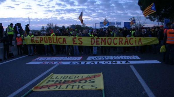 Sztrájk- és tüntetéshullám Katalóniában