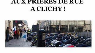 مسلمون يصلون في الشارع بباريس وسط احتجاجات العلمانيين