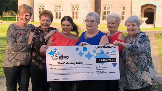 Six hospital dinner ladies from Wales retire early after winning EuroMillions jackpot