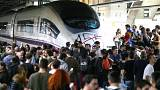 Catalan students blockade Barcelona's main train station