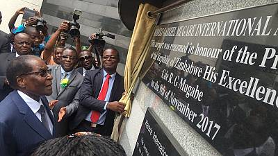 [Photos] Zimbabwe finally renames its main airport after Mugabe