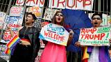 Filipinos protest against Trump visit