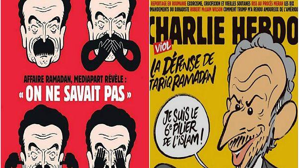 طارق رمضان يشعل حربا إعلامية بين شارلي إيبدو وميديا بارت