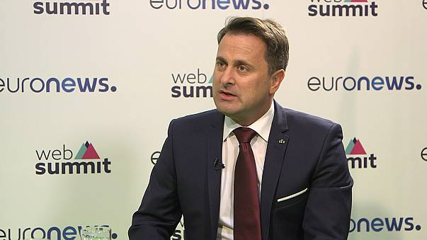 Com Xavier Bettel, primeiro-ministro do Luxemburgo, na WebSummit 2017