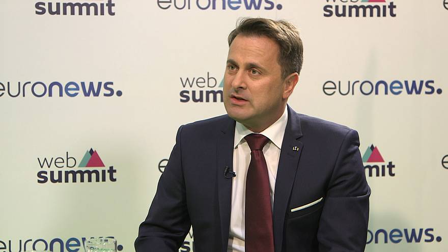 Com Xavier Bettel, primeiro-ministro do Luxemburgo, na WebSummit 2017