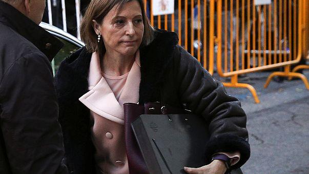 La présidente du parlement catalan sort de prison
