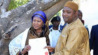 Gambian president swears in female vice Jallow-Tambajang