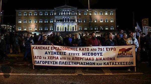Munkavállalók tüntettek Athénban