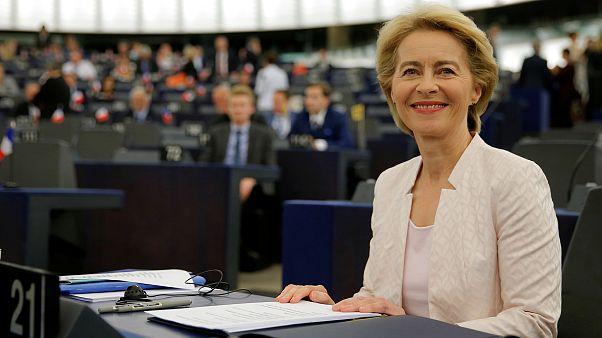 Image: Designated European Commission President von der Leyen arrives to at