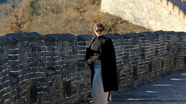 Melania visita muralha da China