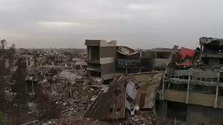 Musul'daki yıkımın kuş bakışı görüntüleri