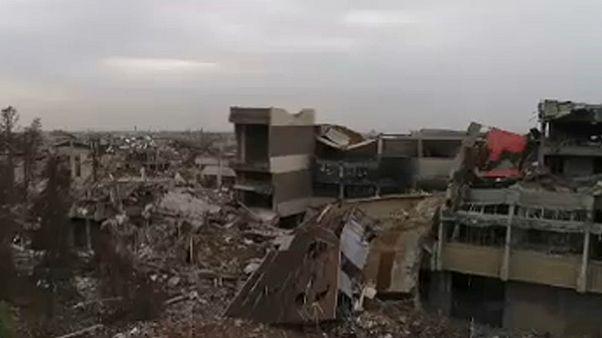 Moszul kórház-romjai, fentről