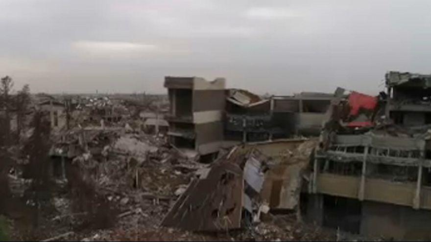 Imagens aéreas mostram destruição em Mossul
