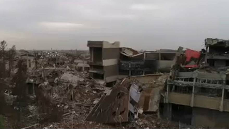 Drohnenvideo von Mossul