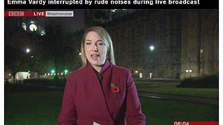 BBC'nin canlı yayınına 'porno sesi' karıştı