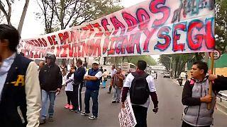 Protestas en México por una vivienda digna