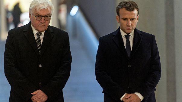 Steinmeier ve Macron savaş kurbanlarını birlikte andı