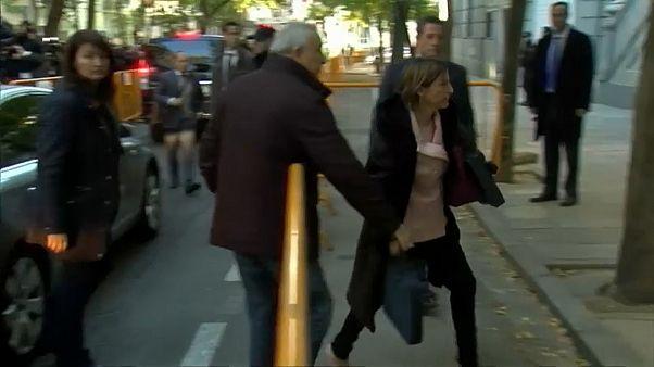 La présidente du parlement catalan libérée sous caution