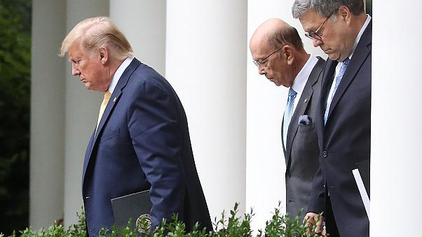 Image: President Trump Holds News Conference In Rose Garden On Census And C