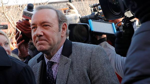 Image: Actor Kevin Spacey arrives to face a sexual assault charge at Nantuc