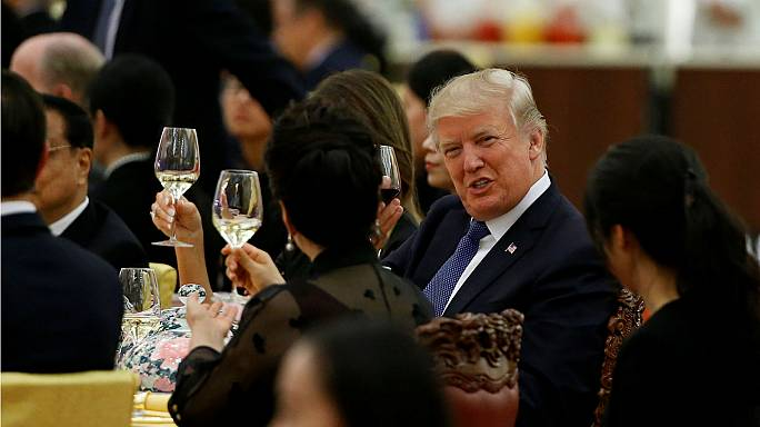 What is all-American diner Trump eating on his Asia tour?
