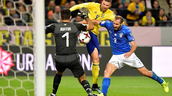 Sweden beat Italy 1-0 in World Cup play-off first leg